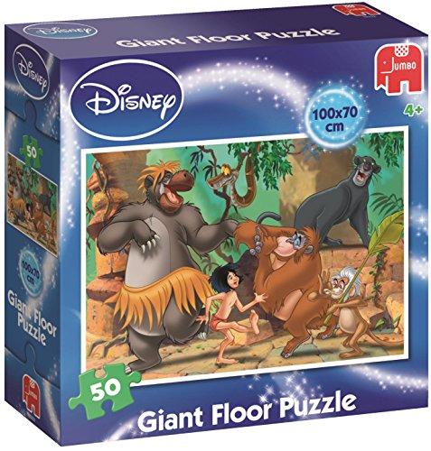 Disney Kinder Figuren (Disney 19332 - Jungle Book Großes Bodenpuzzle 50)