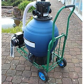 Profi Leis Sandfilteranlage 14 m ³ Sandfilter Pumpe 550 W Poolfilter Filter 60kg komplett mit Wagen