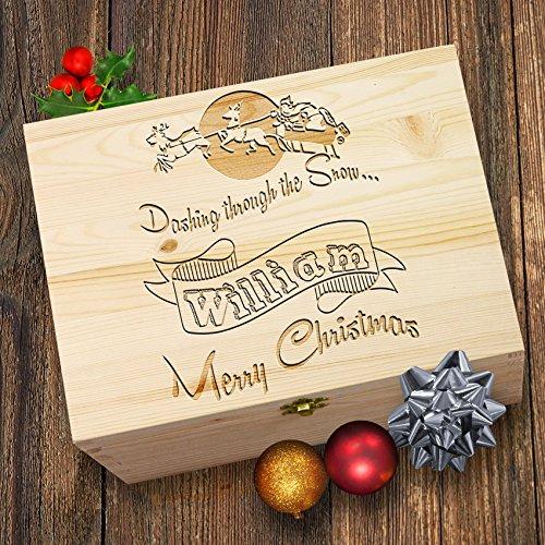 TWISTED ENVY Personalisierte Rentier Merry Christmas Santa 's Christmas gravierter Box (Santa S Elfen)