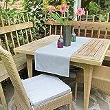 Delindo Lifestyle Tischläufer Samba, grau, 40x140 cm, Fleckschutz, abwaschbar, für Indoor und Outdoor - 3