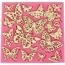 DIY Flores y mariposas mantel de silicona Encaje Fondant Silicona Moldes