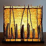 Guru-Shop Tischlampe/Tischleuchte Calimera, in Bali Handgemachtes Unikat aus Naturmaterial, Treibholz, Baumwolle, Kokosfaser - Modell Calimera, 35x35x20 cm, Dekolampe Stimmungsleuchte