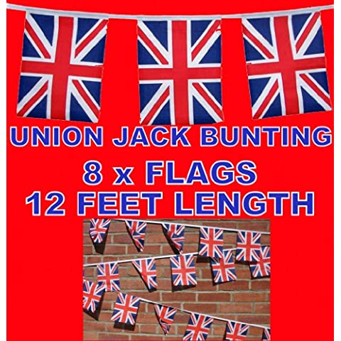 Union Jack Rayón Banderas Banderas de–12pies (8)