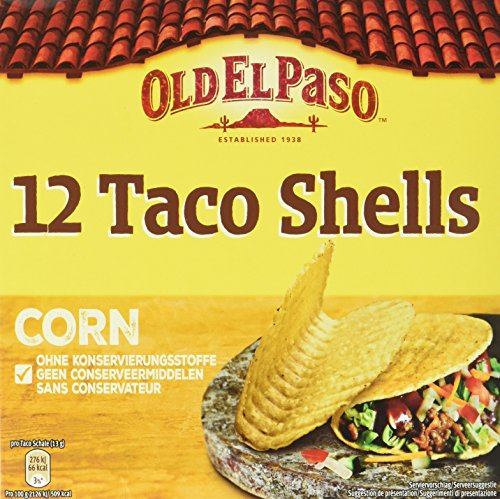 Old El Paso Taco Shells Corn, 12 Stück, 156 g