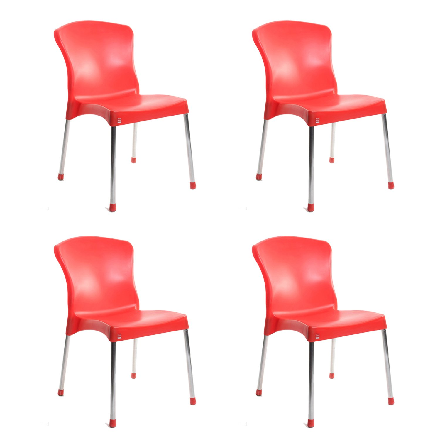 Cello Milano Cafeteria Set of 4 Chairs Blue Amazon Home