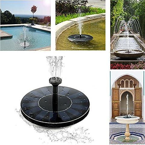 Solar Fountain Pump Water Birdbath 1.4 W 7 V Indoor Outdoor Pond Garden