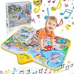 Musical Alfombra Piano Manta de Juguete, 10 Sonidos Vehšªculos Regalos & Touch Play Alfombra para BebšŠ Ni?o Navidad