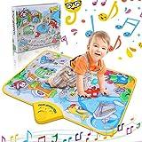 RenFox Tappeto Musicale Bambini,Tappetino Pianoforte Gioca al Tappeto 10 Veicoli dei Suoni & Coperta Musicale Educativa Elettronica Portatile per Bambini Toddler Girls Boys Natale