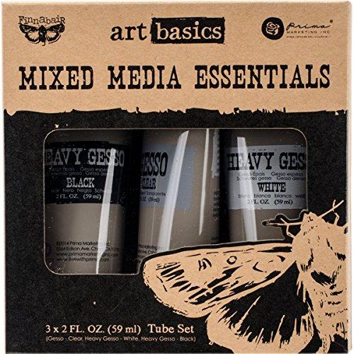finnabair-art-basics-mixed-media-essentials-2-ounces-3-pkg-clear-white-black-gesso