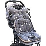 Souarts Universal Kinderwagen Sitzauflage Baumwolle wasserdichte atmungsaktiv Sitzeinlage für Baby Kinderwagen Buggy…
