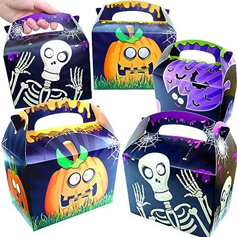 German Trendseller® - 12 x Geschenke Party Boxen - Halloween ┃ NEU ┃ mit Henkel zum Befüllen ┃ Kindergeburtstag ┃ Mitgebsel ┃ 12 Stück