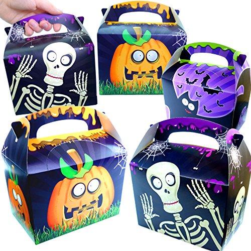 German Trendseller 12 x Geschenke Party Boxen - Halloween ┃ NEU ┃ mit Henkel zum Befüllen ┃ Kindergeburtstag ┃ Mitgebsel ┃ 12 ()