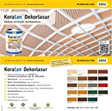 Koralan Dekorlasur 10l in vielen Farben - Profilasur (Ebenholz)
