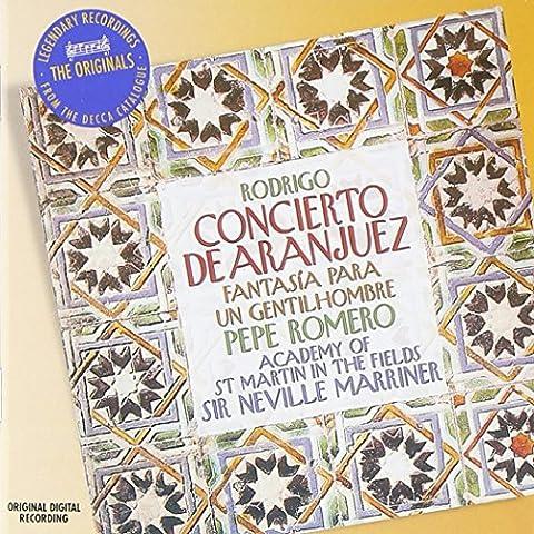 Rodrigo : Concierto de Aranjez (Concerto d'Aranjuez) ; Fantasia para un Gentilhombre [Import allemand]