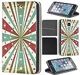 CoverFix Premium Hülle für Samsung Galaxy S7 Edge G935F Flip Cover Schutzhülle Kunstleder Flip Case Motiv (283 Sterne Abstract Grün Rot Weiß)