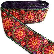 Pasamanería Bordado con Flores - Gran Anchura 100 mm x10cm