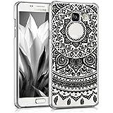 kwmobile Étui transparent élégant avec Design soleil indien pour Samsung Galaxy A5 (2016) en noir transparent
