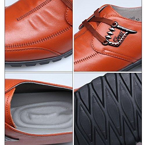 Qiangda Printemps Loisirs Chaussures Mâle Anti Glisser Chaussures Douces Automne, Hauteur De Talon 20mm, 2 Couleurs En Option (couleur: Noir, Taille: Eu39 = Uk6) Jaune