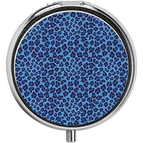 Leopard Animal Print stilisierte künstlerische Gestaltung kreative zeitgenössische Kunstwerke Pillendose Runde Pillendose für die Tasche -