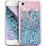 iPhone 4S Hülle,iPhone 4 Hülle,iPhone 4S 4 Hülle,ikasus Durchsichtige Glitter Glänzend Bling Glitzer Diamond Diamant Fließen Treibsand Handyhülle Handy Hülle Tasche Schutzhülle,Blau Diamant Pailletten