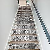 Gaoxu einfache schwarz - weiß - 13 kreatives alter jahrgang fliesen versehen aufkleber angebracht treppenstufen