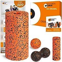 Preisvergleich für blackroll-orange ORANGE-BOX PRO - Faszienrolle PRO, Massageball, Duoball Twinball-Orange und MINI Massagerolle als Selbstmassage Set in der ORANGE-BOX. Qualität Made in Germany.