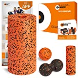 blackroll-orange ORANGE-BOX PRO - Faszienrolle PRO, Massageball, Duoball Twinball-Orange und MINI Massagerolle als Selbstmassage Set in der ORANGE-BOX. Qualität Made in Germany.