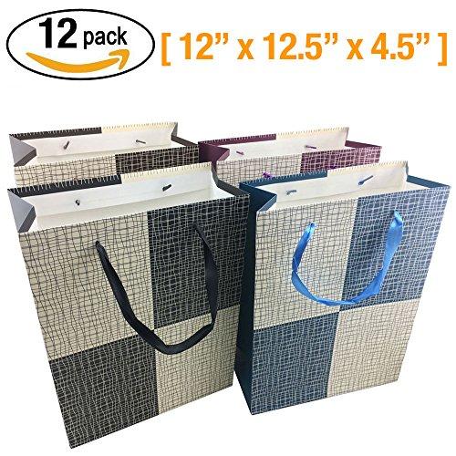 Sacchetti regalo - 12 pezzi Shopping di Natale sacchetto di carta, regalo di compleanno del partito Borse [30 x 32 x 12 cm]