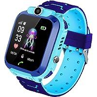 Kinder Intelligente Uhr Wasserdicht, Smartwatch LBS Tracker mit Kinder SOS Handy Touchscreen Spiel Kamera Voice Chat…