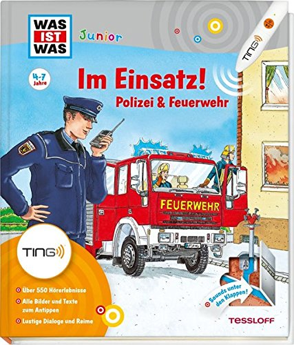 Produktbild bei Amazon - Im Einsatz! Polizei & Feuerwehr: Über 550 Hörerlebnisse, kleine Spiele und Rätsel (Antippen, Spielen, Lernen!)