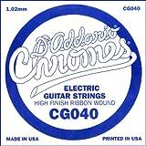 D\'Addario Corde seule à filet plat pour guitare électrique D\'Addario CG040, .040