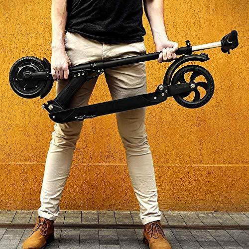 GoZheec E Scooter KUGOO S1 350W, 30km, 30 Km/h, LCD E-Roller Jugendliche und Erwachsene konkurrieren mit M365 (Schwarz) - 4