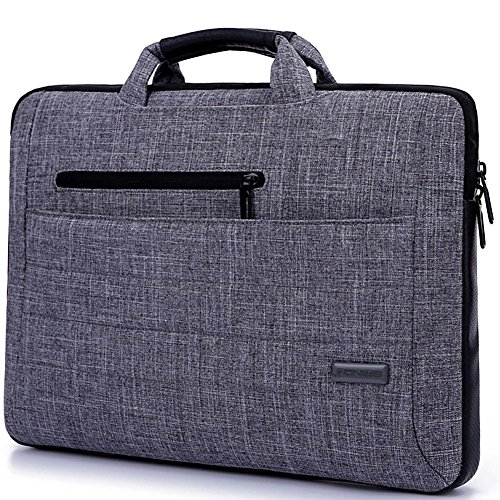 Vanwalk Laptop Bag Per 15.6 Inch Laptop, multifunzionale vestito del tessuto Portable Laptop sacchetto di trasporto / spalla Laptop Bag / sacchetto del messaggero portatile / taccuino del computer della cassa del manicotto di sacchetto della borsa per Laptop / Tablet / Macbook / Notebook, (GY-14)