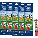 Braun Oral-B Stages Power Kids Aufsteckbürsten Micky Maus 10er Pack Bürstenköpfe Kinder (5 x 2er Pack EB10-2K) Mickey Mouse
