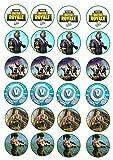 Print4you 24Kuchen Topper 4cm auf Zuckerguss Cupcake Bilder–fortnite Zwei Wochen