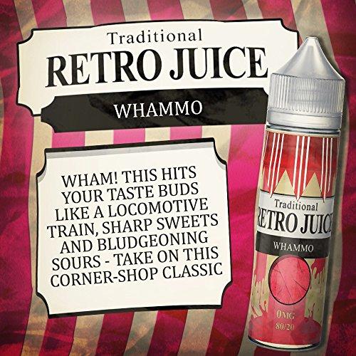 RETRO JUICE 80VG 20PG 0MG 50ML E liquid E Juice E FLÜSSIG, Nikotinfrei, Kein Verkauf an Minderjährige oder unter 18 Jahren, Hergestellt in UK (Süss Sauer)