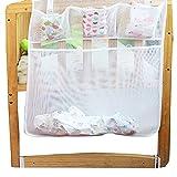 Aipark Chiffon pour lit de bébé jouet Rangement pour lit à suspendre Diaper Sac de rangement