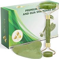 ARCLOGY Jade Facial skincare natural Massager, Gua sha rullo di giada per il viso naturale massaggiatore , Quarzo rosa…