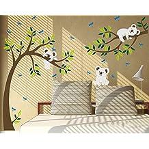 Stickers arbre blanc bebe - Stickers koala chambre bebe ...