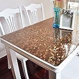 SANDM Kunststoff tischdecke PVC-tischdecke, Wasserdicht Schmutzabweisend Weichglas Tischmatte Couchtisch Matte Tischdecken für Rechteck tische-B 60x100cm(24x39inch)