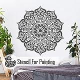 MANALI Mandala Wand Möbel Fußboden Schablone für Malerei - 80cm