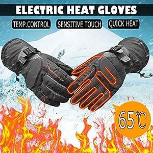Massage-AED Elektrisch beheizte Handschuhe Motorrad Winter warm wasserdicht Batterie Heizung Radfahren Ski Handschuhe Motos Guantes für Männer Frauen