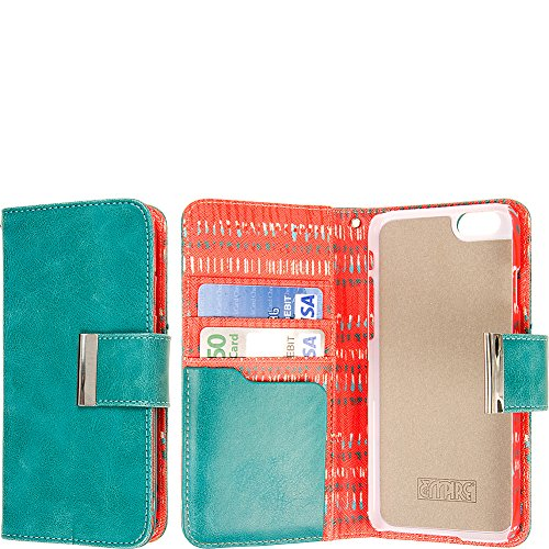 "EMPIRE KLIX Klutch Designer Wallet für Apple iPhone 6 4.7"" - Vintage Flower Pop! Teal Tribal, KLIX KLUTCH"