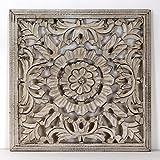 -Mandala de Pared, Fabricada artesanalmete en España, tamaño 40x40 cm, Modelo GR93. Forma Cuadrada...