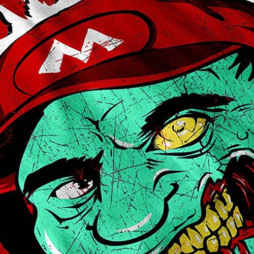 Zombie Mario Land Super Luigi Damen Schwarz S-2XL Muskelshirt | Wellcoda Weiß