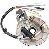 GOOFIT 2-Coil Magneto stator Remplacement pour 50 CC 70 CC 90 CC 110 CC 125 CC Kick Start ATV Dirt Bike et Go Kart