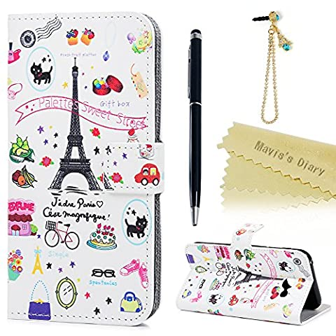 Cover for A5 ,Galaxy A5 Case (2017 Model) - Mavis's Diary Wallet Flip Bumper Cover PU Leather Case Shockproof Prints Design with Soft Inner TPU Case Magnetic Closure with Stand Folio Protective Cover with Dust Plug & Stylus Pen for Samsung Galaxy A5 2017-