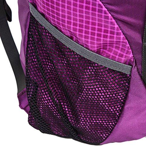 FakeFace Neu Retro Wanderrucksack Picknickrucksack Trekkingrucksack Rucksack Sport Tasche Daypacks wasserdichter Reiserucksack Tragetasche für Outdoor Lila