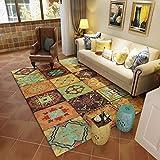 GXQ Vintage American Carpet Wohnzimmer Couchtisch Sofa Teppich Schlafzimmer Bett Teppich Haus (Farbe : C, größe : 200x300cm(79x118inch))