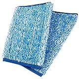 Bella-Easy Mikrofaser Klett-Mopp (blau meliert) - Zubehör Fensterreiniger Profi Set - Im Nu streifenfreie Glasflächen | Set 2 Stück